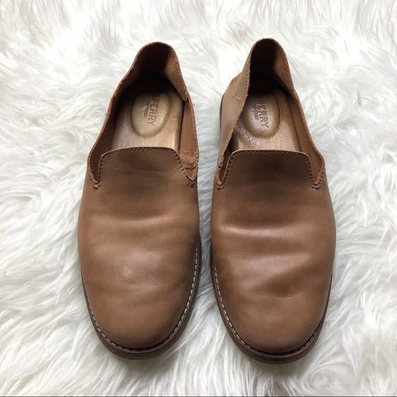 Sperry Seaport Levy Tan Leather Loafer